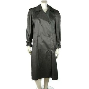 Womens Metallic Gray Trench Coat DECREE